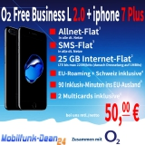 O2 Free Business L 2.0 + iphone 7 Plus nur 50,00€* mtl.