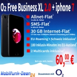 O2 Free Business XL 2.0 + iphone 7 nur 60,00€* mtl.